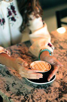 Coffee, Hands, Woman, Coffeehouse, Drink, Beverage, Cup