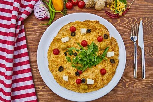 Omelet, Egg, Breakfast, Bread, Tomato, Food Photo