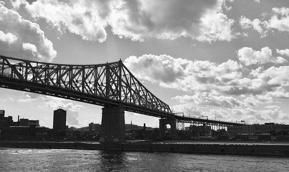 Bridge, City, Urban Landscape, Québec