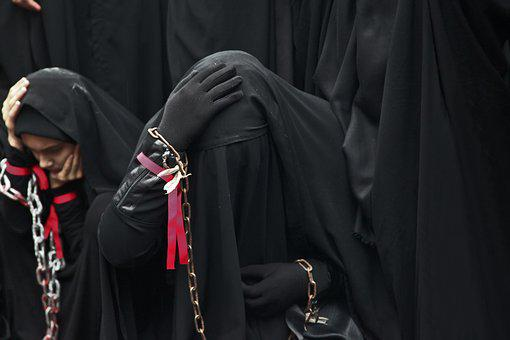 Mourning, Sadness, Women's, Sheets, Burqa, Exposure