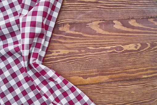 Table, Cover, Red, Plaid, Texture, Background, Macro