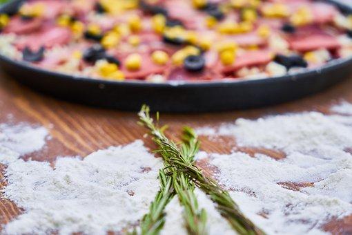 Pizza, Dough, Delicious, Hot, Food, Macro, Kitchen