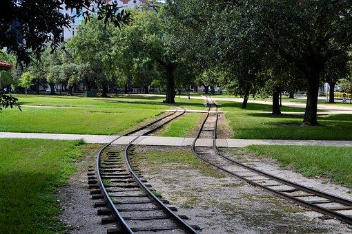Herman Park Train Tracks, Houston Texas, Train Tracks