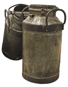 Milk Cans, Historically, Vintage, Nostalgic