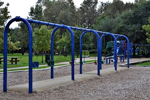 Swings, Playground, Herman Park, Houston, Texas