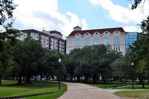 Herman Park, Houston, Texas, Trees, Walkway, Pathway