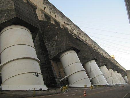 Itaipu, Hydroelectric, Dam, Power Plant, Concrete