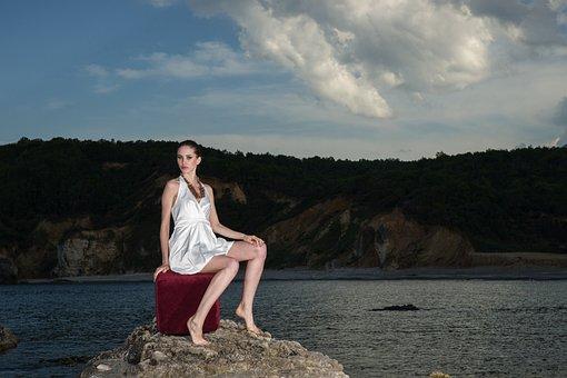 Model, Mannequin, Dress, White, Legs, Young Model