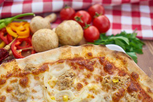 Pizza, Hot, Mushroom, Pepper, Background, Nutrition