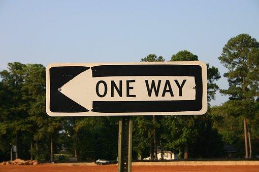 One-way, Sign, Arrow, Way, One, Road, Street, Traffic