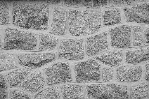Wall, Wall Stones, Photo Black White, Nature