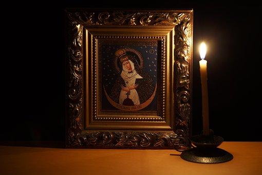 Icon, Candle, Religion, Orthodox, Church, Spirituality