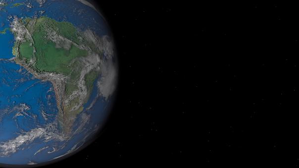Earth, Planet, South America, W, Space, Globe