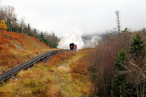 Mt, Washington, Steam Locomotive, Smoke, Operational