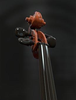 Cello, Strings, Stringed Instrument, Detail, Neck