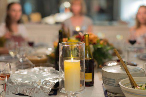 Table Set, Wine, Pumpkin, Holiday, Fall, Autumn
