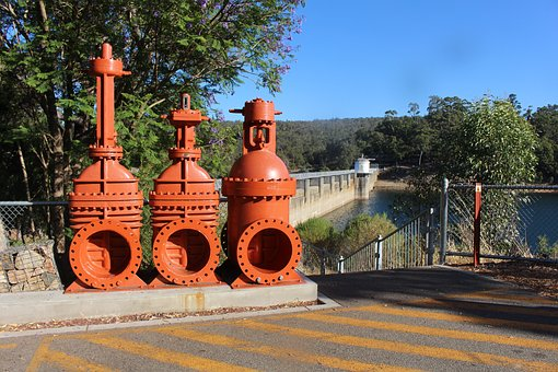 Dam, Water, River, Power, Environment, Green, Industry