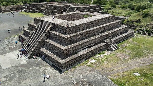 Mexico, Pyramid, Teotihuacan, Pyramids, Aztec, Tourism