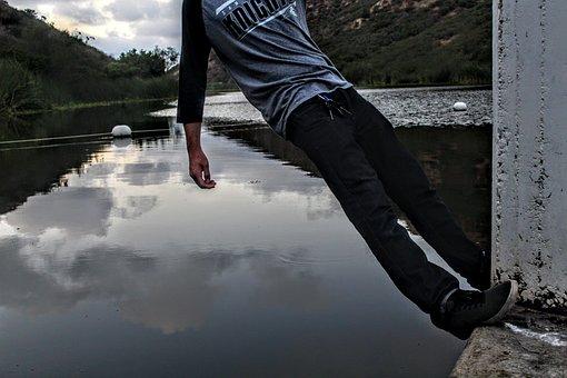 Water, Hanging, Nature, Danger, Wet, Hang, Blue, Summer