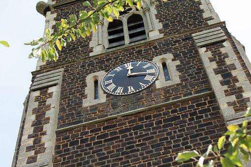 Church, Church Tower, Church Clock Tower