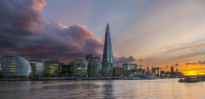 London, River Thames, City, England, Uk, Architecture