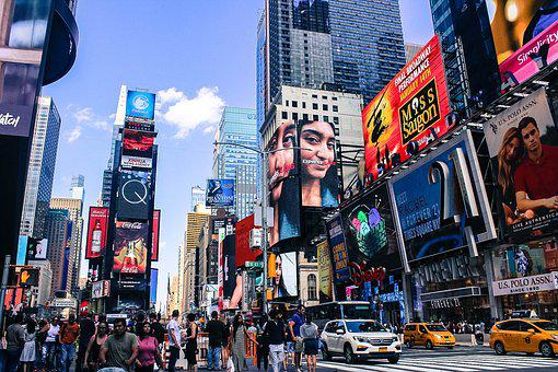 Times Square, Nyc, City, New, Square, York, Manhattan