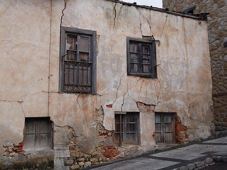 Decay, Cracks, House, Village, Old, Ruin, Abandoned