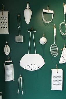 Decor, Decorations, Kitchen, Decorative, White, Vintage