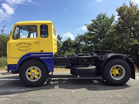Vintage, Truck, Retro, Transport, Icon, Delivery