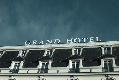 Sky, Hotel, Grand Hotel, Cabourg, City
