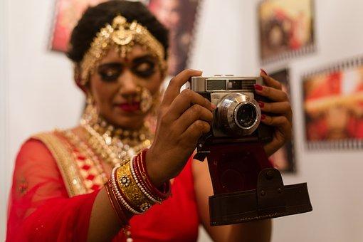 Bride, Camera, Vintage, Indian, Jewelry