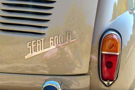 Seat 600, Six Hundred, Back, Pilot Light, Logo, Vintage