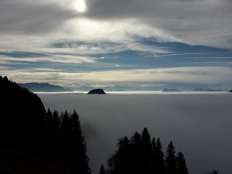 Mountains, Clouds, Sky, Tyrol