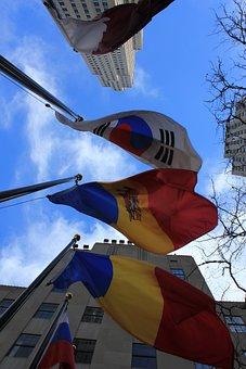 Flags, International, Rockefeller Center, New York