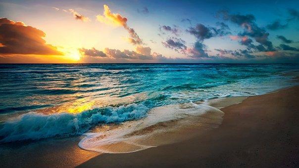 Beach, Sun, Evening, Summer, Sea, Vacation, Ocean
