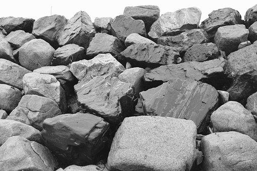 Pebbles, Coastline, Beach, Rock, Nature, Coastal Path