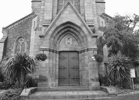 Church, Photo Black White, Architecture, Pierre