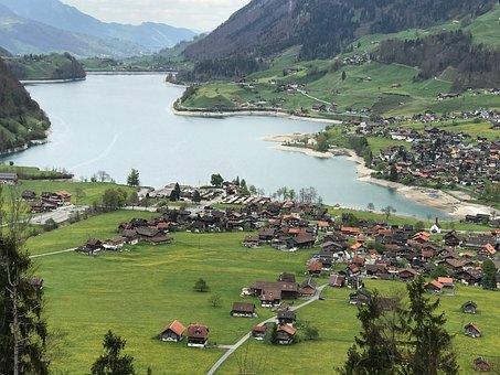 Swiss, Valley, Landscape, Idyllic, Relax, River