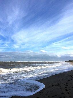 Coastal, Big Sky, Ocean, Sea, Beach, Shore, Coastline