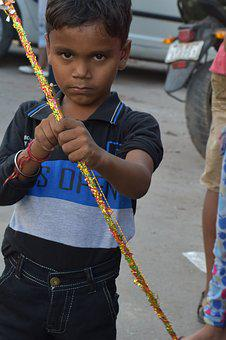 Indian Boy, Serious And Innocent Look, Child