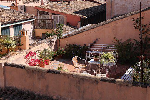 Terrace, Mediterranean, Roof Terrace, South, Holiday