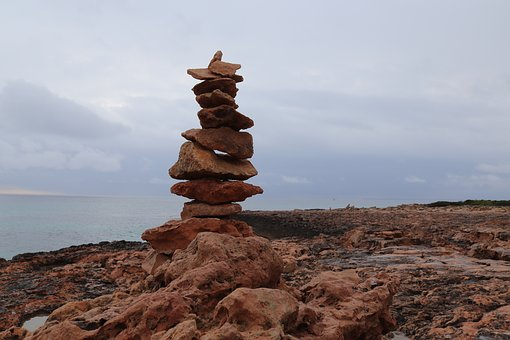 Zen, Cairn, Stones, Meditation, Stone Tower, Coast