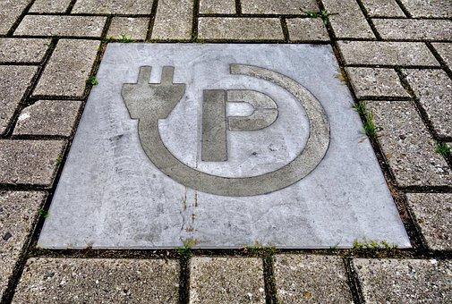 Street, Brick, Tile, Stone, Symbol, Icon, Plug, Traffic