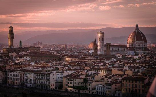 Florence, Sunset, City, Old, Italy, Tuscany, Europe