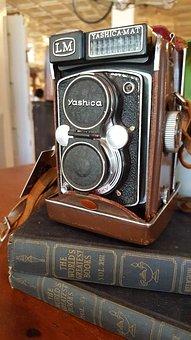 Camera, Vintage, Books, Retro, Photography, Antique