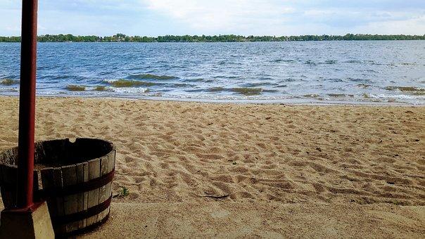 Beach, Lake, Worthington, Relaxation