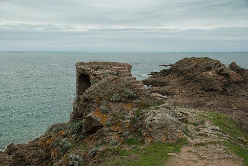 Brittany, Saint-lunaire, Ruin, Rocks, Granite