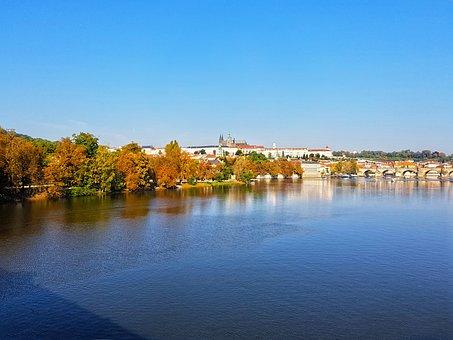 Prague, Autumn, City, Charles Bridge, Czech Republic