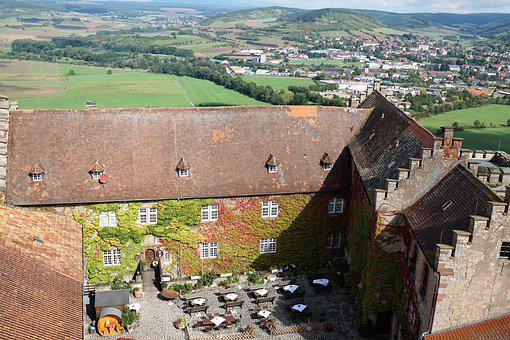 Castle, Saaleck, Hammelburg, City, Hill, Mountain