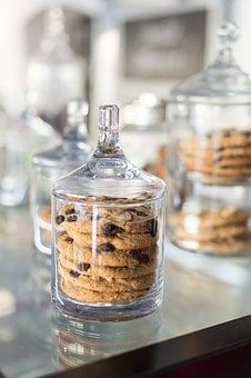 Cookies, Deco, Cake, Cupcake, Container, Glass, Eat